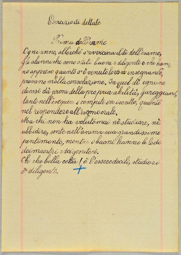 Dettato Scuola Elementare Storie E Microstorie Bassa Sabina 1914