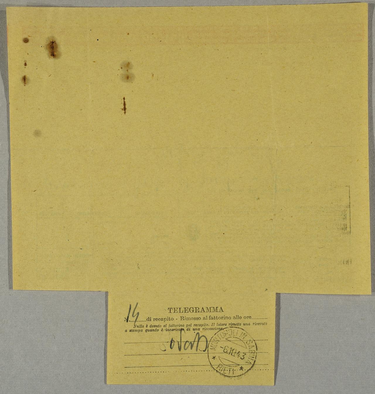 Comune Di Montopoli Di Sabina telegramma   storie e microstorie bassa sabina 1914 – 1946